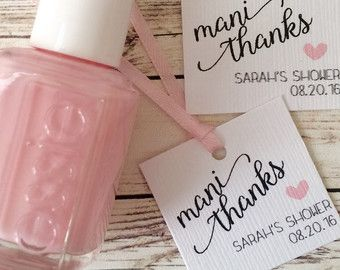 nail polish tags mani thanks thank you tags favor tags shower