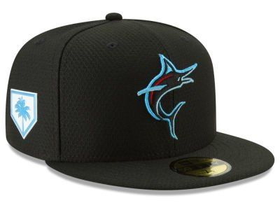 premium selection 0ae3c 39c7c Miami Marlins New Era 2019 MLB Spring Training 59FIFTY Cap ...
