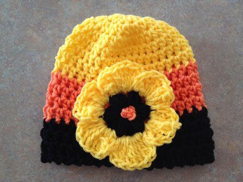 Crochet Halloween Flower Beanie Hat Picture Idea Z Crochet