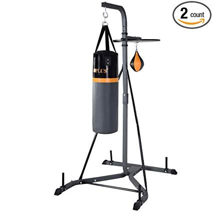 Goplus Punching Bag W Stand 2 In 1 Hanger Wall Bracket Hanging Boxing Frame With Heavy Bag Speed Bag Wall Brackets Heavy Bag Wall Mount Wall Hanger