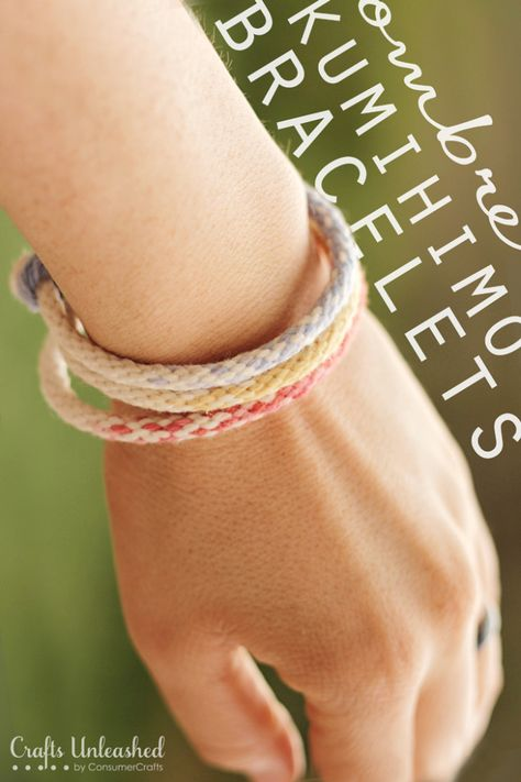 Ombre Kumihimo Yarn Bracelets: A Tried & True Project for Crafts Unleashed