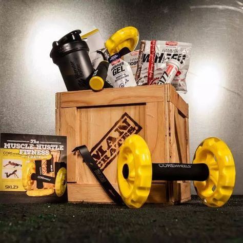 Muscle Hustle Fitness Crate   Man Crates