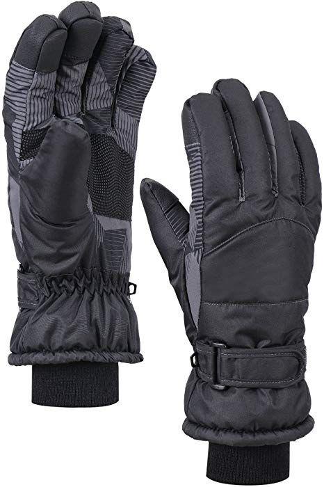 Amazon Com Andorra Womens Thinsulate Lined Waterproof Snow Ski Gloves M Black Digital Clothing Ski Gloves Snow Gloves Gloves