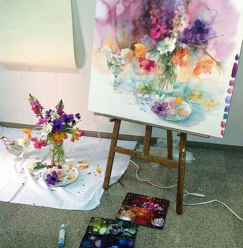 adelaparvu.com despre casa atelier a pictoriteti Yuko Nagayama, artist acuarela (22)