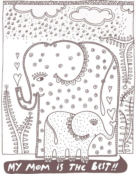 wee gallery mothers day coloring page