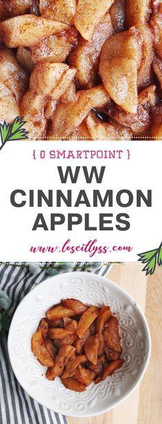 A Boston Market Replica! WW Weight Watcher's Cinnamon Apples. #cinnamonapples #ww #weightwatchers #cinnamon #fallfoods #wwrecipes #recipes