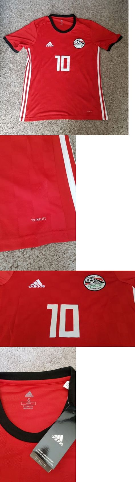 6330d71bb22 Men 123490  Egypt Soccer Jersey Home Red Small Mohamed Salah World Cup 2018  -  BUY IT NOW ONLY   40 on  eBay  egypt  soccer  jersey  small  mohamed   salah   ...