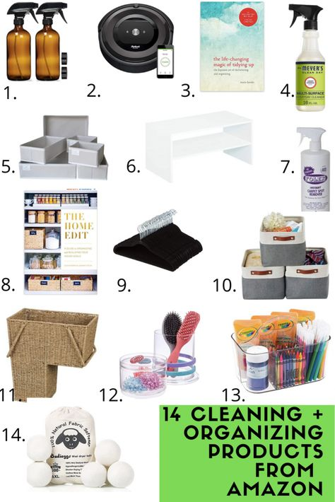 Looking for some cleaning and organizing must haves that can be found on Amazon? Look no further! This post has 14 must have cleaning and organization items for the home that can all be found on Amazon! #amazon #amazonfinds #amazonmusthaves