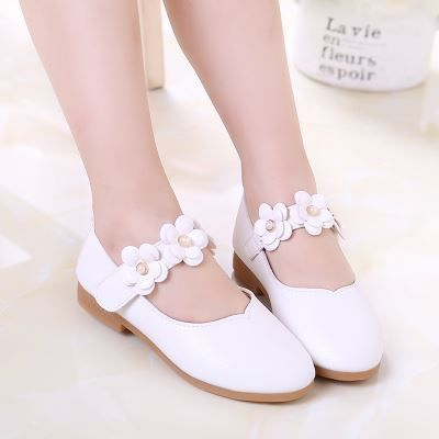 Flower Girl Shoes Kids Girls Princess White Wedding Shoes