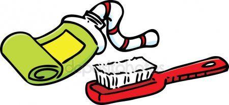 Cartoon Ilustracion Tubo Pasta Dental Cepillo Dientes Dental Idea Creativas Stock Illustration