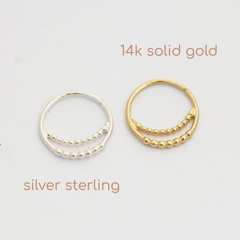 Silver Nose Ring Moon Or Solid Gold 14k Nose Ring Rose Gold Nose