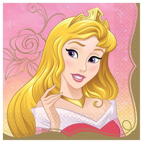 Disney Princess Once Upon A Time Lunch Napkin Aurora 16ct
