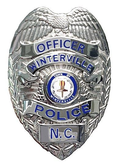 Us State Of North Carolina City Of Winterville Police Department Badge Police Police Badge Police Department