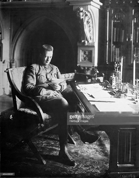 Alexander Kerensky, Prime Minister of the Russian Provisional Government, in his office in the Winter Palace in Petrograd (St Petersburg), Russia, 1917. Kerensky Kerensky (1881-1970) was one of the most prominent leaders of the February Revolution in Ru