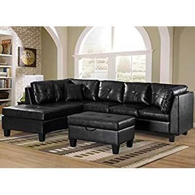 Top 10 Best Leather Couch Under 1000 In 2019 Reviews Black Furniture Living Room Sectional Sofa With Chaise Furniture