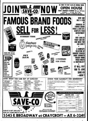 The Grandopening Of The Save Co In Tucson On May 17 1961 It S Now Divided Into A Hobbylobby And A Steinmart Hist Save For House Tucson Tucson Arizona
