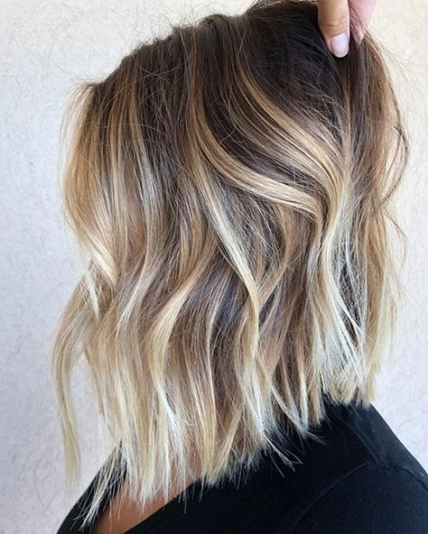 Beautiful Brown to Blonde Ombre Short Hair