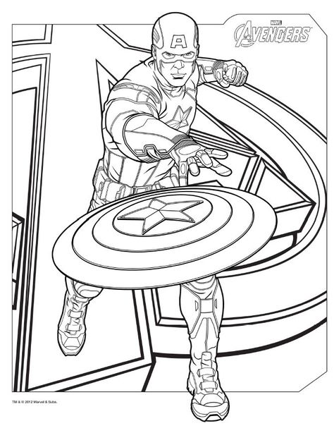 coloring pages avengers # 12
