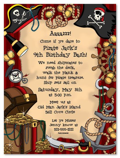 Free Printable Pirate Party Invitations Free Printable Pirate Themed Birthday Par Pirate Birthday Party Invitations Pirate Invitations Pirate Themed Birthday