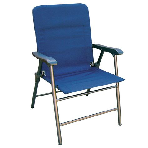 Prime Products Elite Folding Chair In Midnight Blue Folding