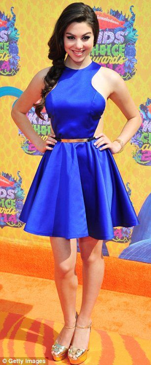 Excited: Actresses Greer Grammer and Kira Kosarin looked excited to hit the orange carpet