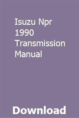 Isuzu Npr 1990 Transmission Manual Turbocharger Mitsubishi Transmission