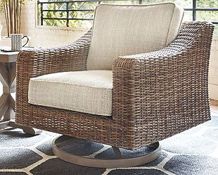 Beachcroft Swivel Lounge Chair Ashley Furniture Homestore Patio Chairs Patio Sofa Furniture
