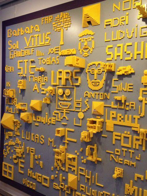 Museum of Modern Art Louisiana.   Lego wall.  Denmark.