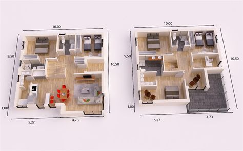 ACUARIO DONACASA 110m2 CASAS DE TEJADO INCLINADO DONACASA - plan maison plain pied 200m2