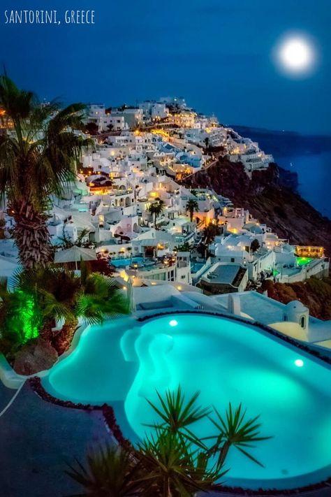 Santorini Villas By: . … Santorini Villas 😍 By: . Beautiful Places To Travel, Wonderful Places, Cool Places To Visit, Places To Go, Beautiful Vacation Spots, Vacation Places, Vacation Trips, Dream Vacations, Italy Vacation