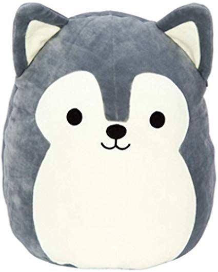 Amazon Com Squishmallows Ryan The Husky Dog Plush 8 Inch Grey And White Toys Games Animal Pillows Cute Stuffed Animals Plush Animals