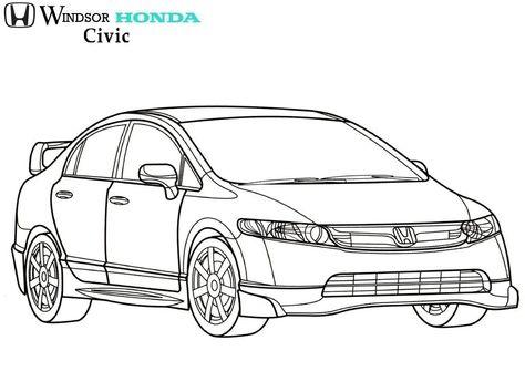 Pin De Windsor Honda Em Colouring Pages Mugen Honda Desenhos A
