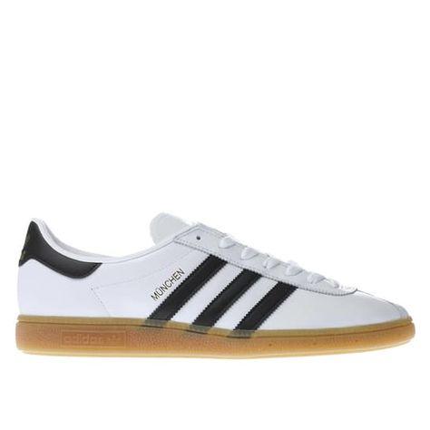 mens white & black adidas munchen trainers | schuh | Kid
