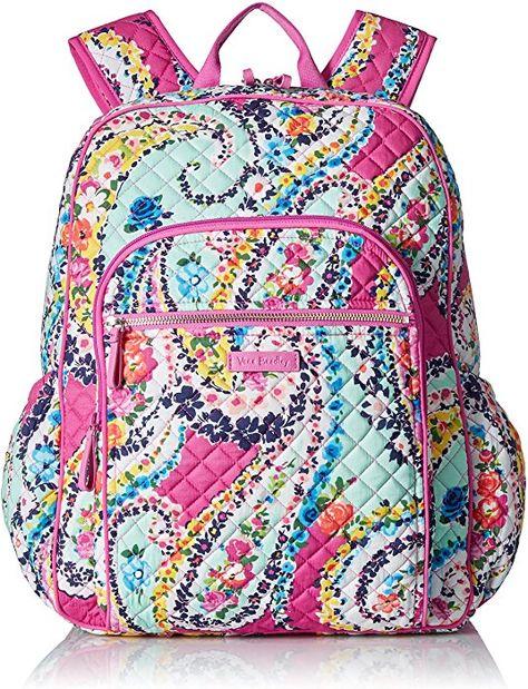 Amazon.com  Vera Bradley Iconic Campus Backpack 0ec1943893a29