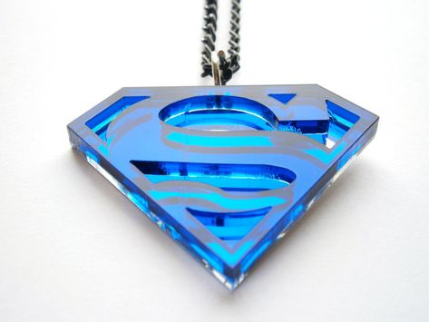 Statement Necklaces – Superman Necklace - Superhero Jewelry – a unique product by InspiringJewelry on DaWanda