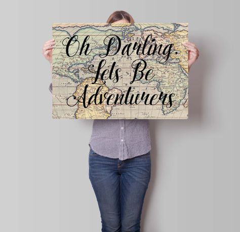 Oh Darling Lets Be Adventurers Travel Wedding Gift by PartyInked