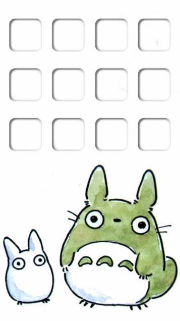 Iphone5 ホーム画面 トトロ となりのトトロ のスマホ壁紙 待ち受けホーム ロック背景画面 素材 ジブリ 200 トトロ スマホ壁紙 壁紙