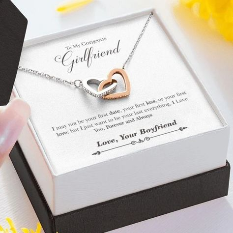 To My Girlfriend Necklace Jewelry Gift With Message Card Quote – ShineOn.com