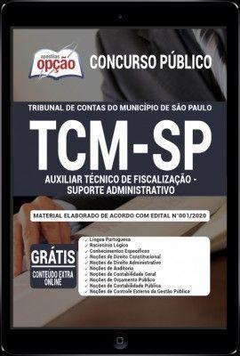 Apostila Tcm Sp Pdf 2020 Auxiliar Tecnico De Fiscalizacao