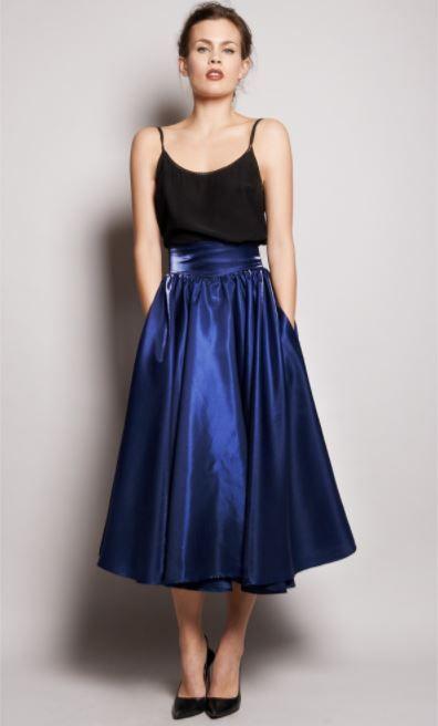 distribuidor mayorista gran venta estilo limitado falda larga azul outfits, azul marino, azul electrico, como ...