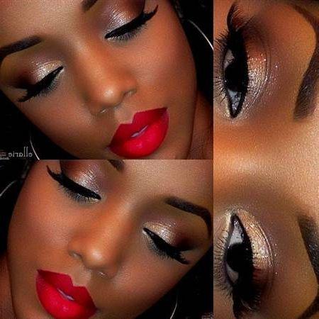 Red Dress Makeup Smokey Eye