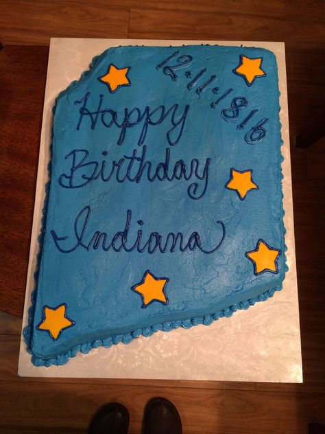 This is one of the cakes I made for our school's 4th graders. They were celebrating Indiana's birthday.