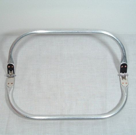 Purse Frame 8 X 3 75 Inch Tubular Spring Loaded Aluminum Etsy Purses Carpet Bag Tubular