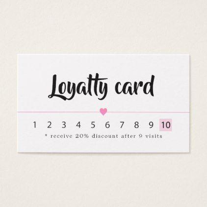 Modern Elegant White Rose Heart Lines Beauty Loyalty Card Zazzle Com Beauty Business Cards Business Cards Simple Beauty Business