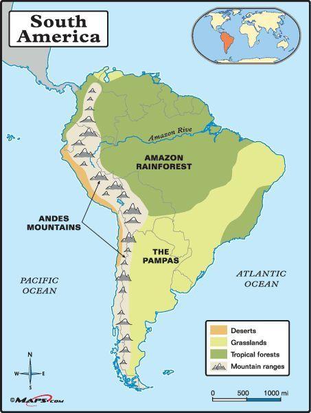Amazon Rainforest Map Free Printable Maps South America