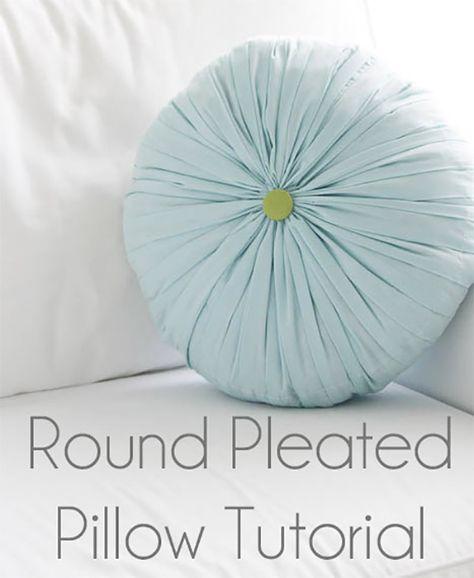 coussin rond tufte DIY : le coussin rond et plissé