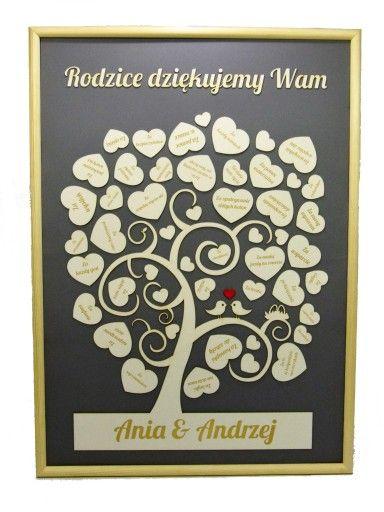 Podziekowanie Dla Rodzicow Drzewo Drzewko Ramka Frame Home Decor Decor