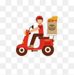 Delivery Boy Courier Takeaway Ordering Catering Services Fast Food