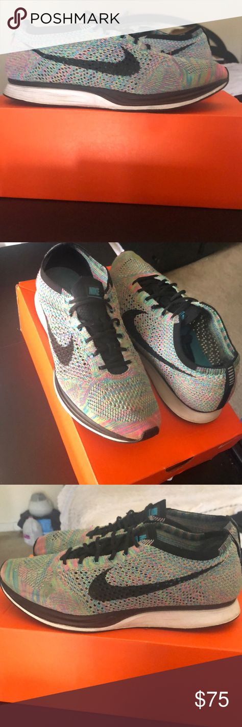 42803451bd576 Nike Multicolor Flyknit Racer Product code 526628-304 Nike Flyknit Racer  Good condition Nike Shoes
