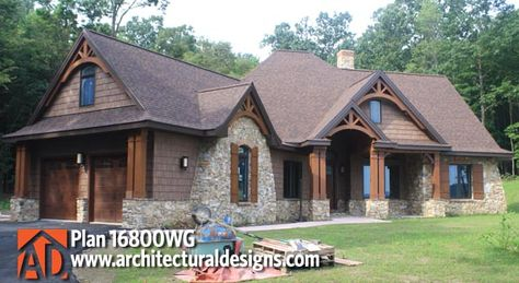 Architectural Designs Rustic House Plan 16800WG comes to life!